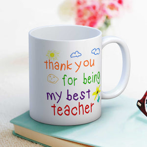 Thank you for being my best teacher end of term gift mug