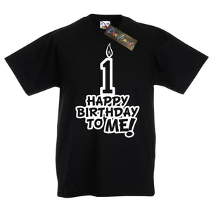 Toddler's Happy Birthday To Me Age 1 T-Shirt