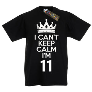 I Can't Keep Calm I'm 11 Birthday T-Shirt