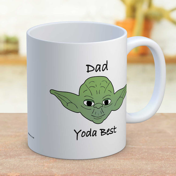 Fun Star Wars Yoda Mug, Dad Yoda Best Father's Day Gift Mug
