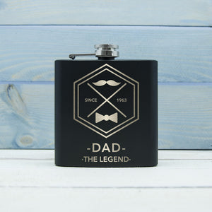 Dad The Legend Personalised Hip Flask