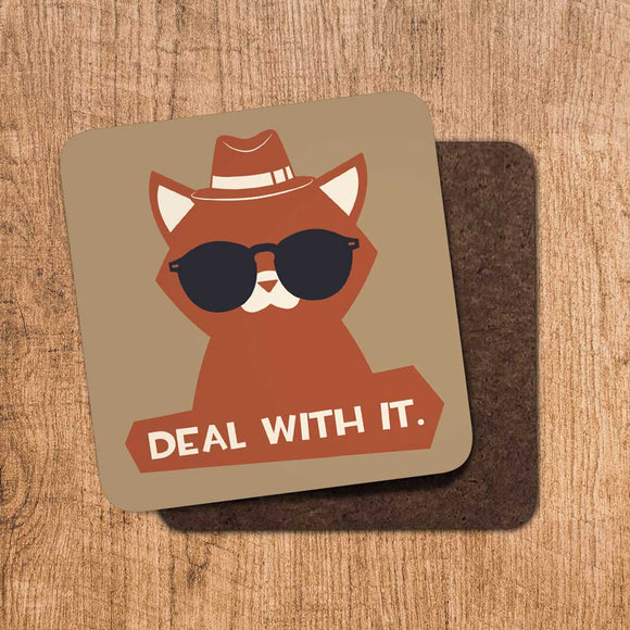 Deal With It Coaster