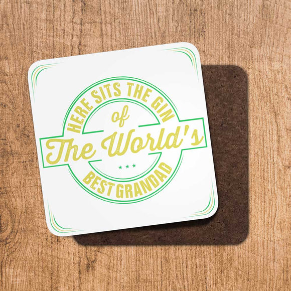 Gin Worlds Best Grandad Coaster