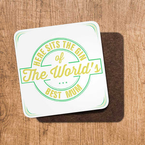 Gin Worlds Best Mum Coaster