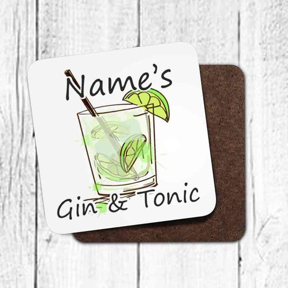 Personalised Gin & Tonic Coaster