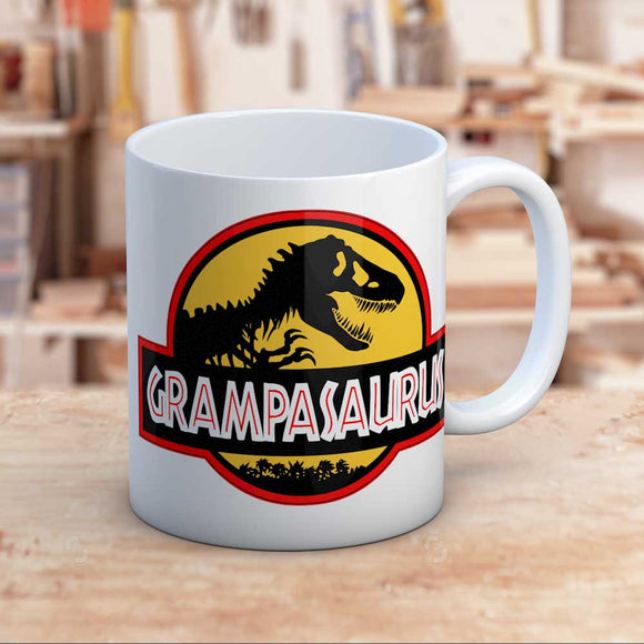 Grampasaurus Jurassic Themed Dinosaur Gift Mug For Gramps