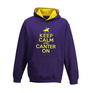 Keep Calm and Canter On Child's Varsity Hoodie