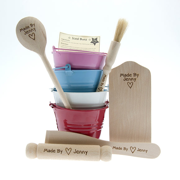 Children's Personalised Made By Baking Set