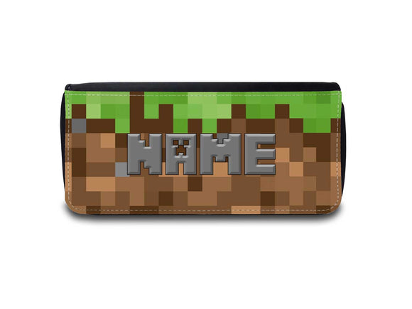 Personalised Minecraft Inspired Pixel Pencil Case