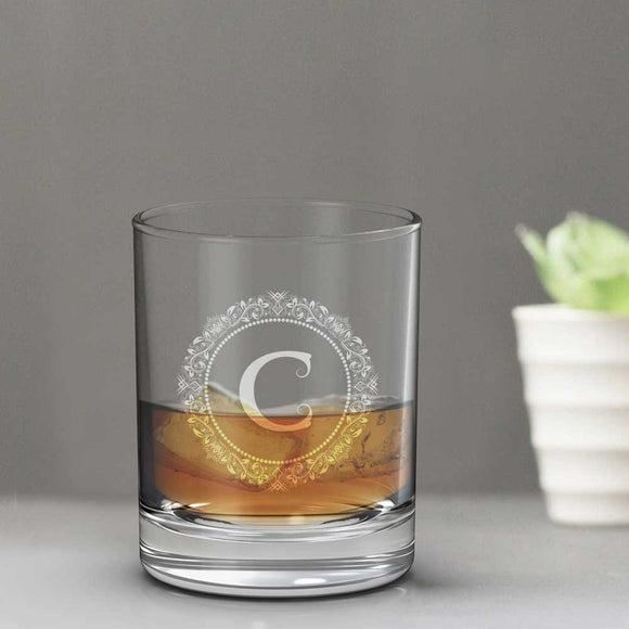 Monogram Whisky Glass Tumbler