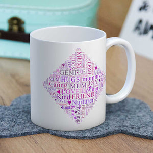 Mum Words Diamond Mug