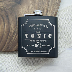 Original Tonic Personalised Hip Flask