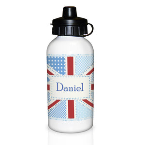 Patchwork Personalised Union Jack Drinks Bottle