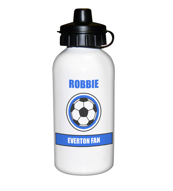 Football Fan Personalised Royal Blue Design Drinks Bottle