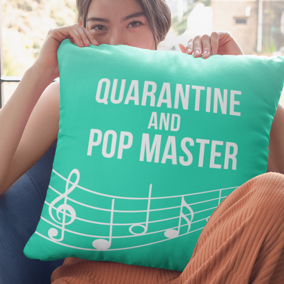 PopMaster Cushion Music Themed Quarantine and PopMaster Throw Cushion