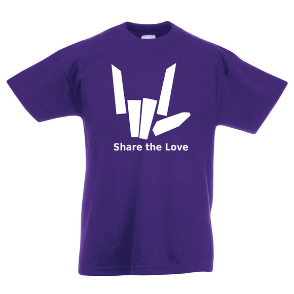 Share The Love Child's Sharer Logo T-Shirt
