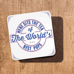 Tea Worlds Best Pops Coaster