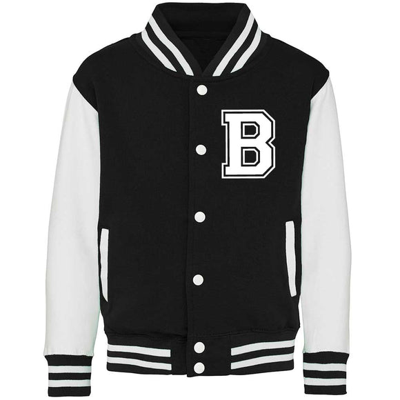 Adults Unisex Personalised Initial Varsity Jacket