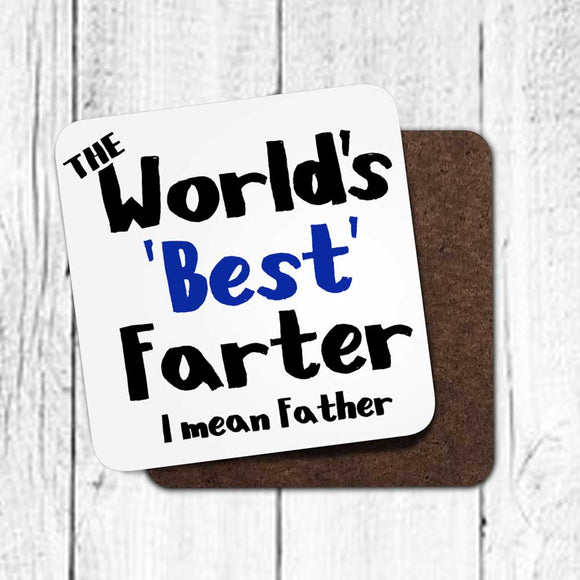 Worlds Best Farter Fun Coaster For Dad