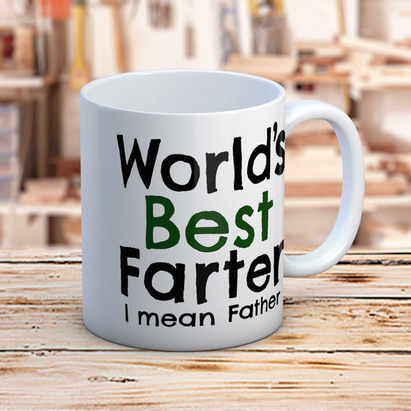 World's Best Farter Fun Gift Mug For Dad