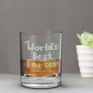 World's Best Farter Whisky Glass