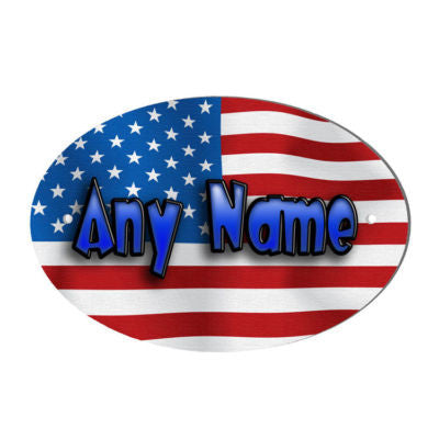 American Flag Design Personalised Door Name Plaque