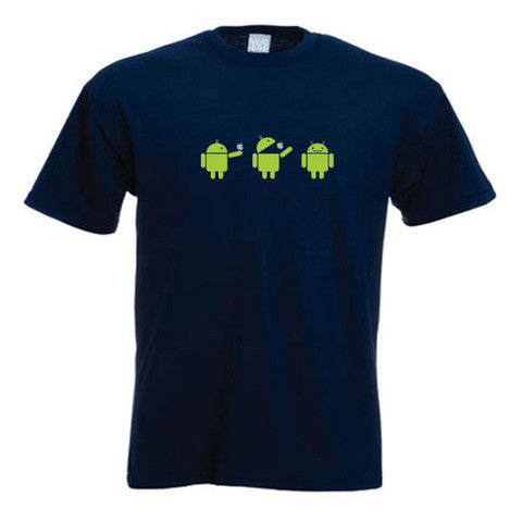 Android Eating Apple Fun T-Shirt