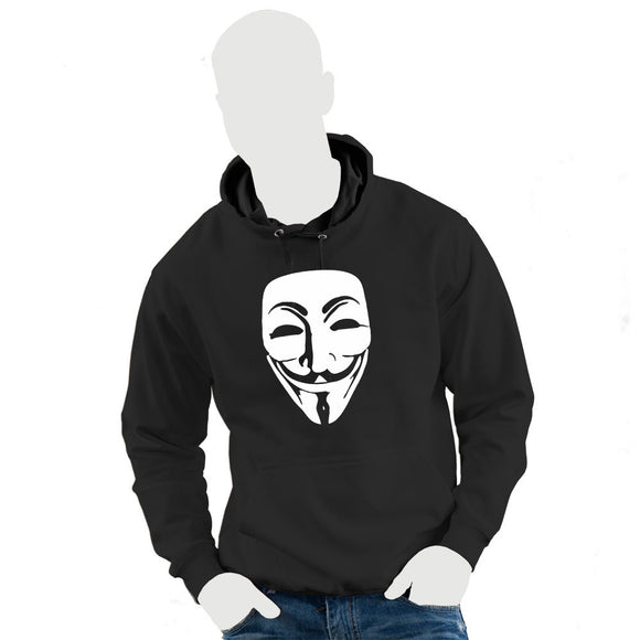 Anonymous V for Vendetta Guy Fawkes Adult Black Hoodie