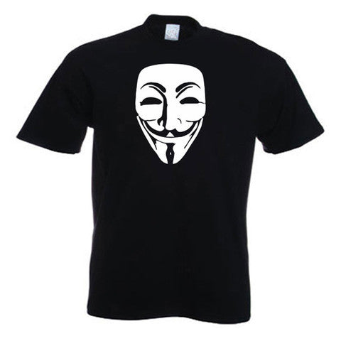 Anonymous V For Vendetta Guy Fawkes Mask T Shirt