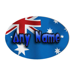 Australian Flag Design Personalised Door Name Plaque