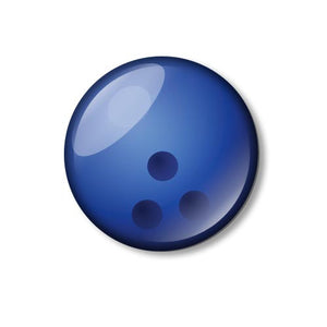 Bowling Ball 25mm Pin Backed Button Badge