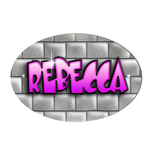 Brick Wall Design Personalised Pink Text Door Plaque