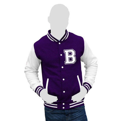 Child's Unisex Personalised Initial Varsity Jacket