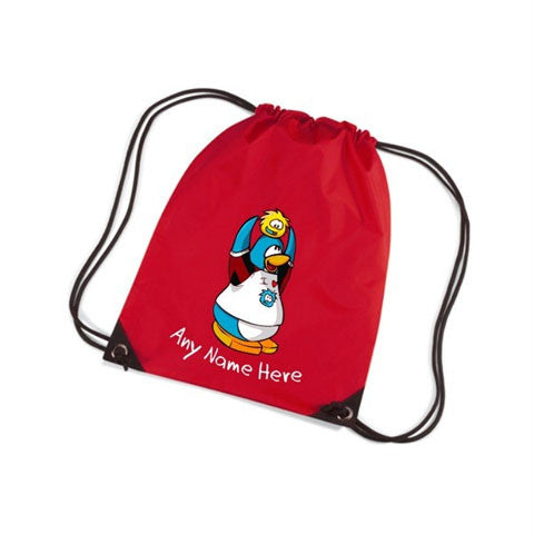 CLUB PENGUIN PERSONALISED GYM BAG