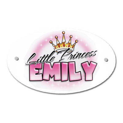 Cute Little Princess Design Personalised Door Plaque