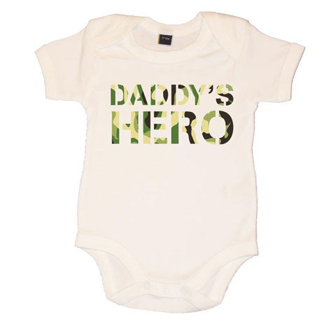 Daddy's Hero Boys Baby Vest