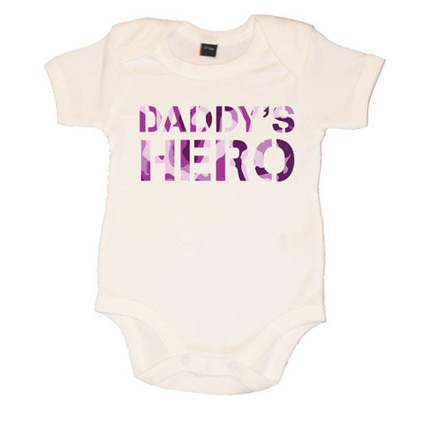 Daddy's Hero Girls Baby Vest
