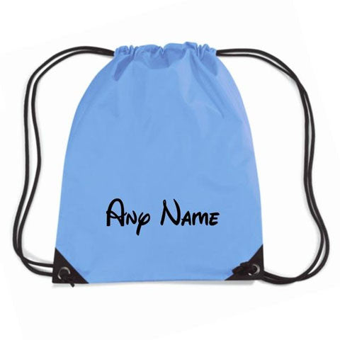 Disney Style Print Personalised Gym Bag