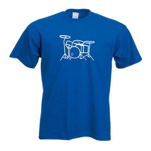 Drum Kit Outline Motif Child's Drummer T-Shirt