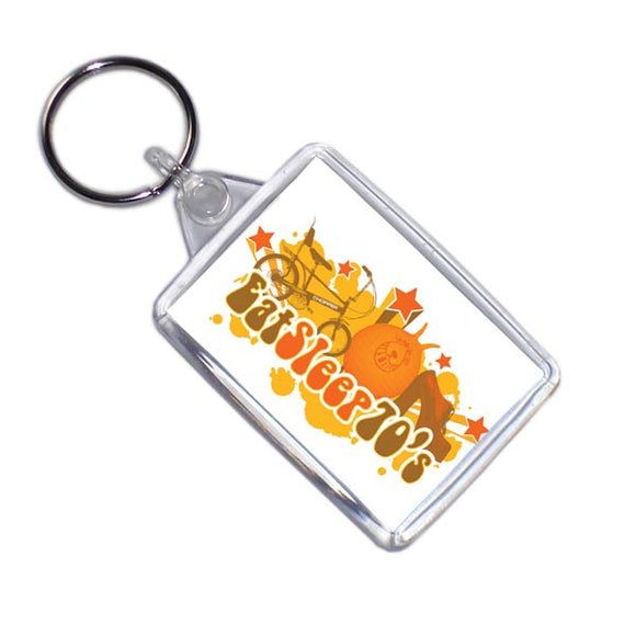 Eat Sleep 70's Retro Style Key Ring
