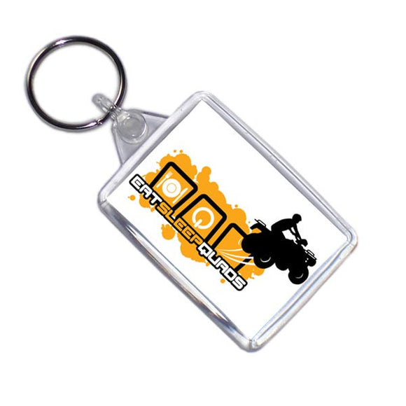 Eat Sleep Quads Quad Bike Keyring