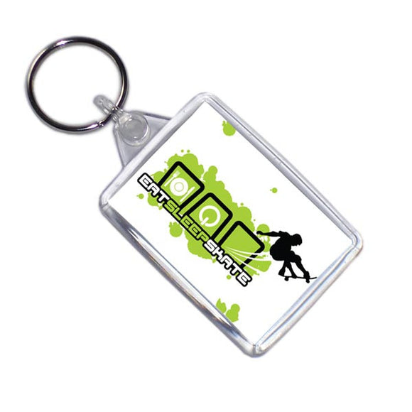 Eat Sleep Skateboard Keyring