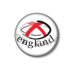 England Rugby Ball Design 25mm Pin Backed Button Badge
