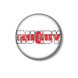 England Rugby Design 25mm Pin Backed Button Badge