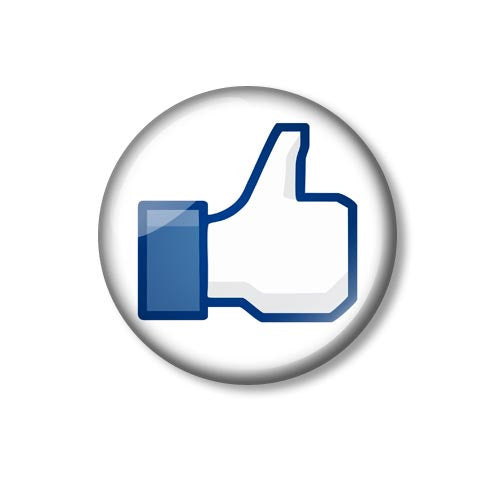 Facebook Like Thumbs Up Fun 25mm Pin Backed Button Badge