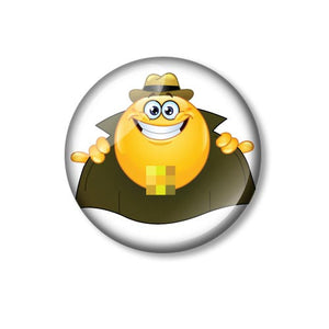 Flasher Smiley Fun 25mm Pin Backed Button Badge