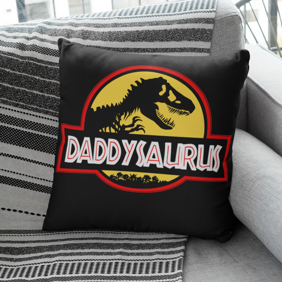 Fun Daddysaurus Jurassic Themed Cushion Gift For Dad