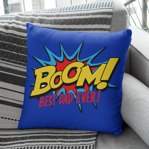 BOOM Best Dad Ever Cushion Gift For Dad