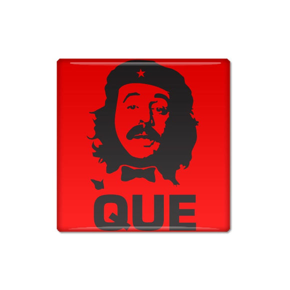 Fun Manuel Que Square Pin Backed Button Badge