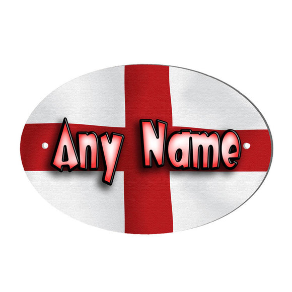 George Cross Flag Design Personalised Door Name Plaque